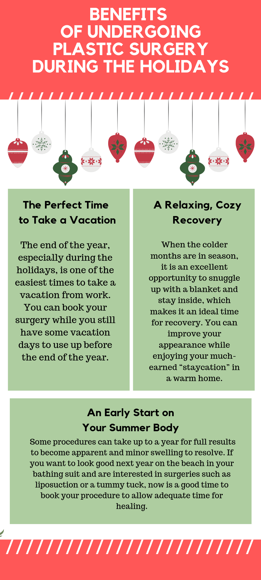 Benefits of Undergoing Plastic Surgery Before the Holidays Infographic